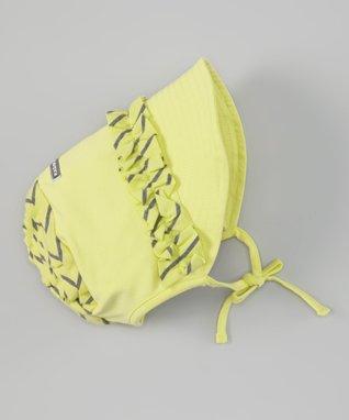 Citrus Frill Stripe Bonnet