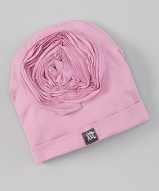 Party Pink Stripe Rosette Beanie