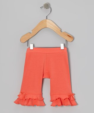 Coral Ruffle Leggings - Infant