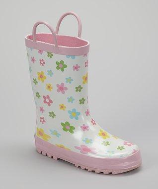 Foxfire Pink Posies Rain Boot