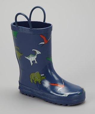 Foxfire Blue Dinosaur Rain Boot