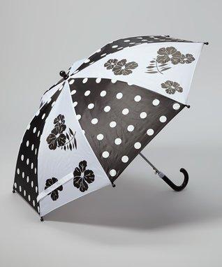 Foxfire Black & White Polka Dot Umbrella