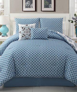 Chocolate & White Shadow Vine Comforter Set