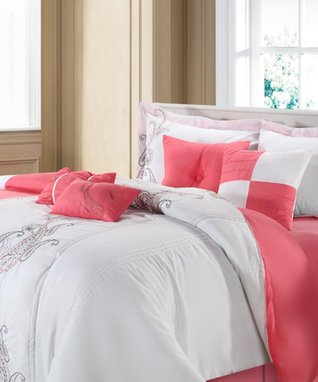 Rose Ann Harbor Embroidered Comforter Set