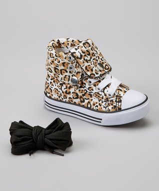 Collection'O Pink Leopard Hi-Top Sneaker