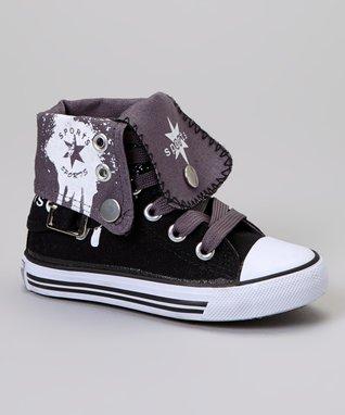 Chatties Black & Purple Zebra Boat Shoe