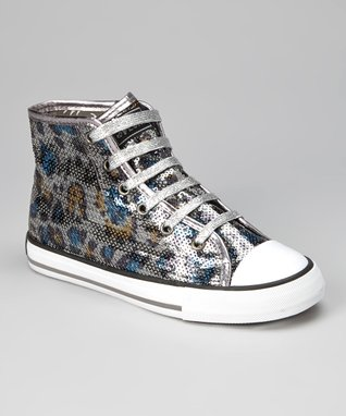 Gotta Flurt Black & White Wildlife Hi-Top Sneaker