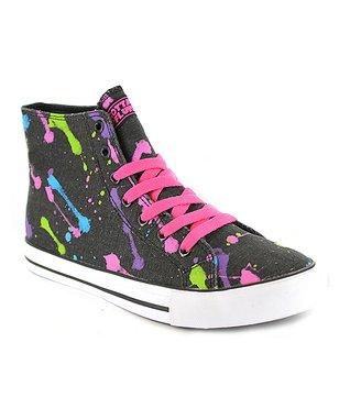 Gotta Flurt Neon Black Epic Hi-Top Sneaker