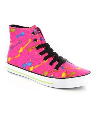 Gotta Flurt Neon Hot Pink Epic Hi-Top Sneaker