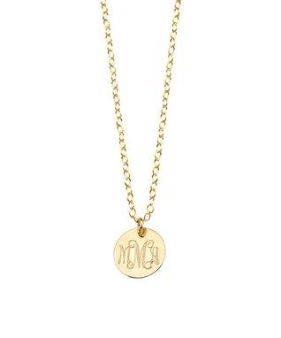 Gold Monogram Pendant Necklace