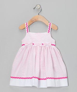 Pink Rickrack Seersucker Dress - Infant