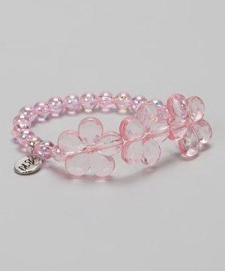 Black & Pink Shabby Heart Headband