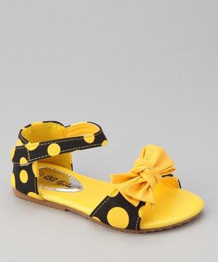 Mint Metallic Bow T-Strap Sandal