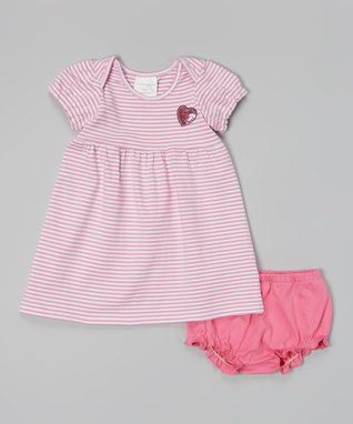 Duck Duck Goose Orange & Pink Ice Cream Romper & Bib - Infant