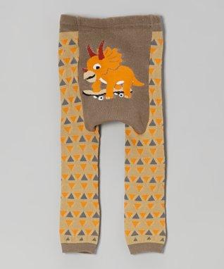 Doodle Pants Tan Tweet Tweet Bird Leggings - Infant