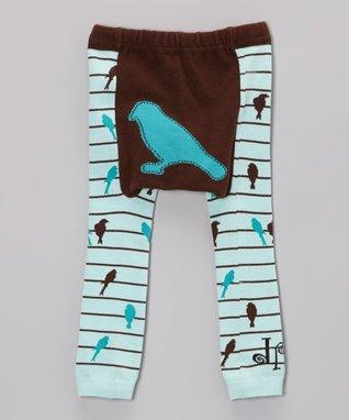 Doodle Pants Blue Rain Cloud Leggings - Infant
