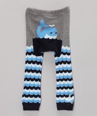 Doodle Pants Gray Whale Leggings - Infant