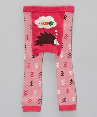 Doodle Pants Pink Hedgehog Leggings - Infant