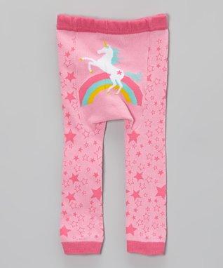 Doodle Pants Pink Rainbow Unicorn Leggings - Infant