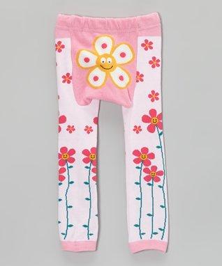 Doodle Pants Pink Flower Leggings - Infant