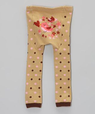 Doodle Pants Yellow & Green Butterfly Leggings - Infant