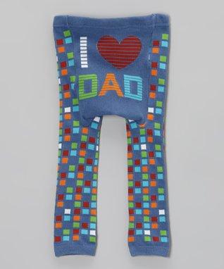 Doodle Pants Blue 'I Love Dad' Leggings - Infant
