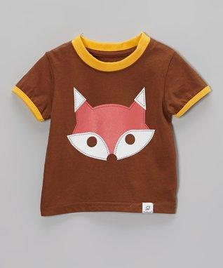 Doodle Pants Brown & Yellow Fox Tee - Infant & Toddler