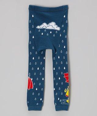 Doodle Pants Green & Blue Bicycle Dinosaur Leggings - Infant