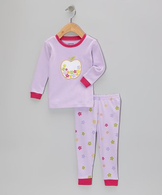 Leveret Red Butterfly Pajama Set - Infant, Toddler & Girls