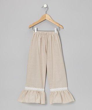 Hot Pink & White Stripe Ruffle Pants - Toddler & Girls