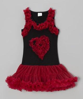 Gray & Red Peony Crocheted Beanie