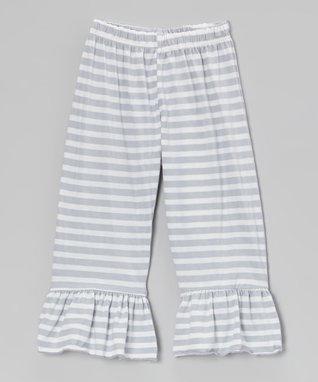 Khaki Lace Ruffle Pants - Toddler & Girls