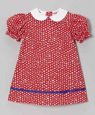 Betti Terrell Blue Polka Dot Noah's Ark Swing Dress - Infant, Toddler & Girls
