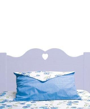 Lavender Scalloped Heart Headboard