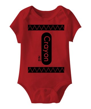 Red 'Crayon' Bodysuit - Infant