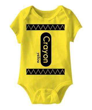 Yellow 'Crayon' Bodysuit - Infant