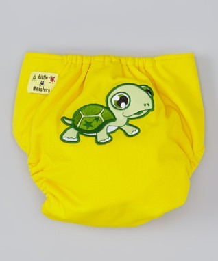 Little Monsters Yellow Turtle Pocket Diaper