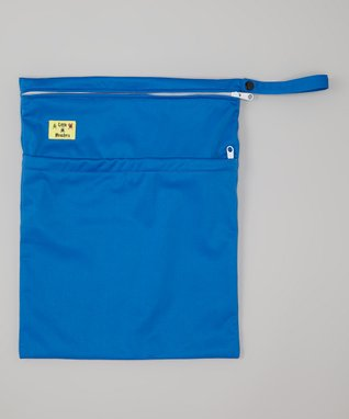 Little Monsters Blue Rocketship Wet Bag