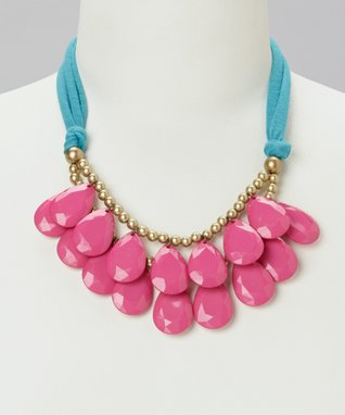 Hot Pink Teardrop T-Shirt Necklace