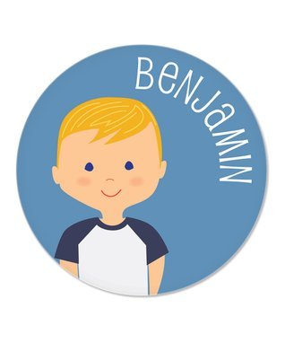 Blonde Boy Personalized Plate