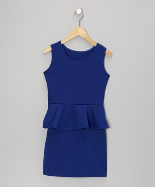 Royal Peplum Dress