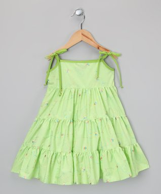 Green Tier Dress - Infant, Toddler & Girls