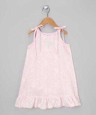 Blue & Pink Stripe Color Block Dress - Toddler & Girls