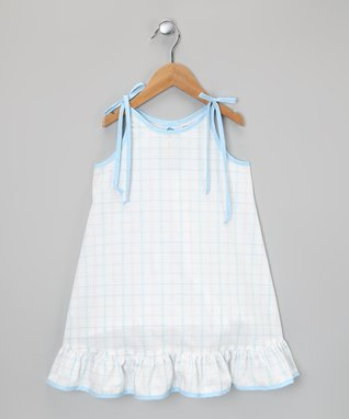 Beige Tropical Stripe Dress - Infant, Toddler & Girls
