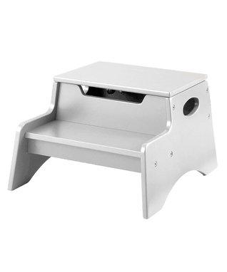 White Step 'N' Store Footstool