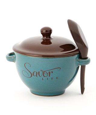 'Savor Life' Soup Bowl & Spoon