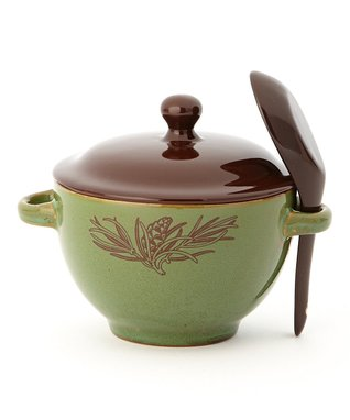 Pinecone Soup Bowl & Spoon