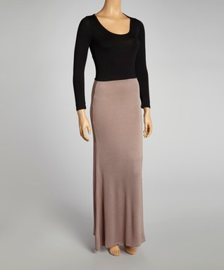 American Twist Royal & Black Geometric Stripe Maxi Dress