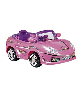 Best Ride On Cars Pink Convertible Sports Car Ride-On