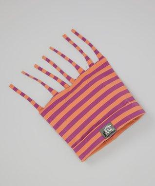 Citrus Charcoal Stripe Ruffle Leggings - Infant